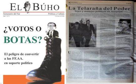 #Hace20Años La telaraña del poder: Tejes y manejes políticos en Arequipa