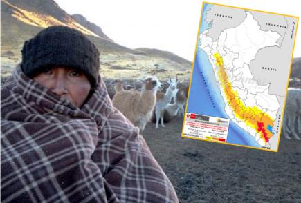 Senamhi advierte temperaturas de hasta menos 10 grados en sierra sur