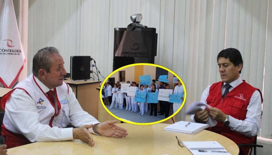 El gerente de Salud Dember Muñoz se reunió con gerente regional de la Contraloría por crisis en hospitales de Arequipa frente a coronavirus