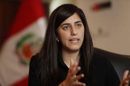 María Antonieta Alva señala que invertirán 12% del PBI en reactivar la economía