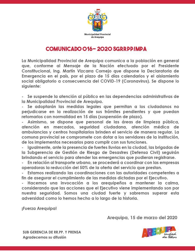 municipio Arequipa