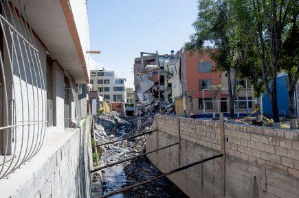 Yanahuara: decenas de vecinos desafiaron a la  torrentera Chullo y perdieron