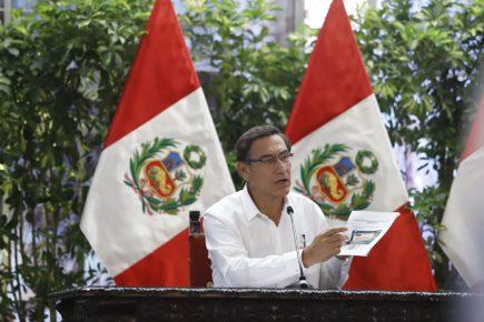 Presidente Vizcarra señala Perú está en fase 3 de epidemia Coronavirus
