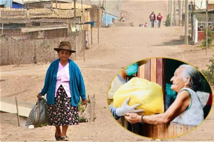 Entregan canastas de víveres insalubres a pobladores de Caylloma (VIDEO)