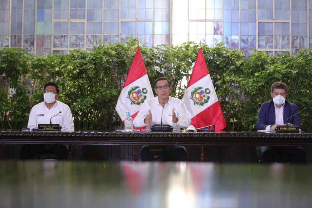 Vizcarra explica medidas del gobierno coronavirus en perú