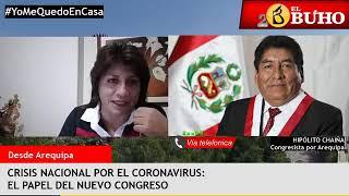 Congresista Hipólito Chaiña y periodista boliviana en Entrevistas en Cuarentena
