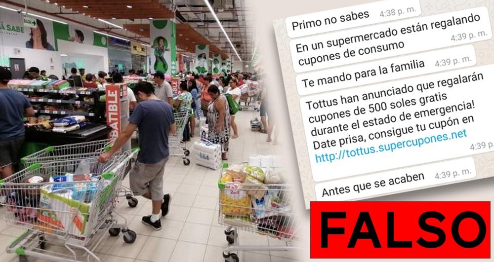 Noticias Falsas Mensaje De Cupones Gratis Para Supermercado Tottus Es Falso El Búho