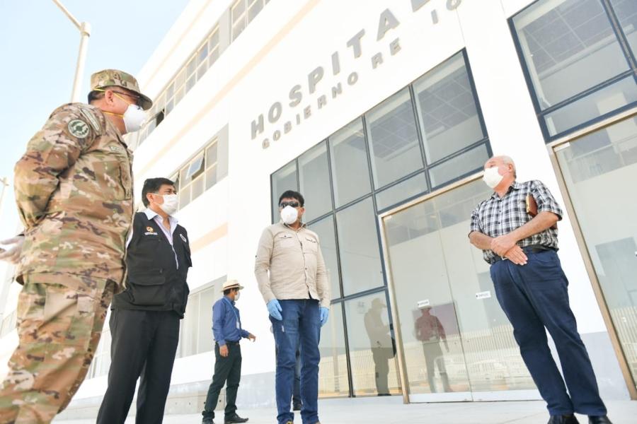 Comando Covid-19 inspeccionó obra del hospital de Camaná