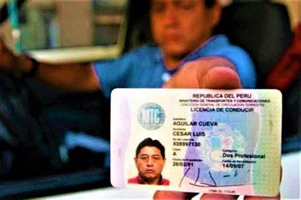 Estado de emergencia: MTC amplía vigencia de licencias de conducir