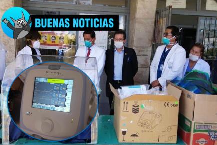 Buenas noticias: Médicos Solidarios dona ventilador mecánico al Honorio Delgado