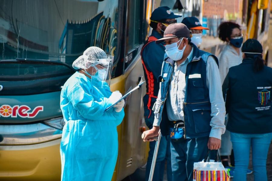 Tercera lista de pasajeros llegó este jueves a la ciudad de Arequipa. Foto: GRA