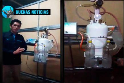 Peruano crea un ventilador artificial con recursos caseros (VIDEO)