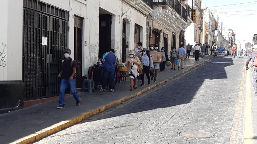 Así se vieron diferentes calles de Arequipa