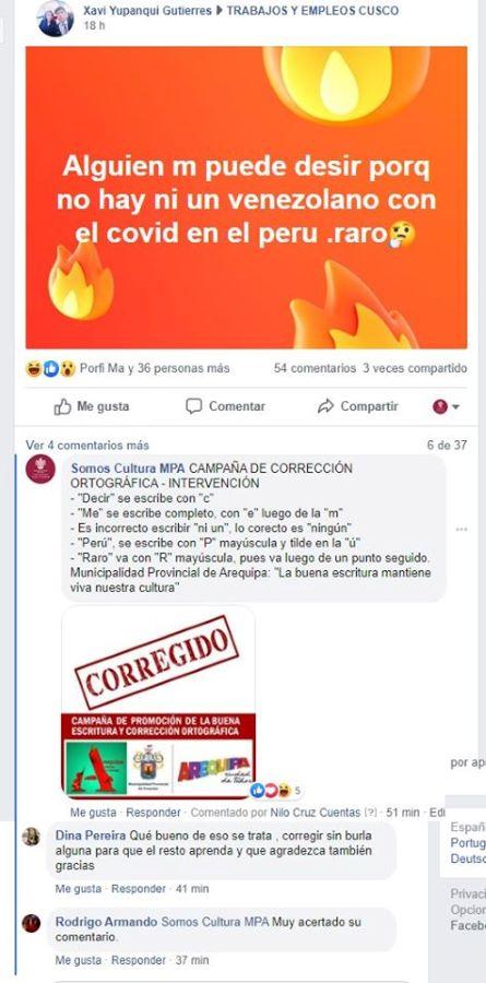 Arequipa - municipalidad corregirá faltas ortográficas en publicaciones