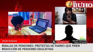 Padres de familia de Colegio Calienes protestan por pensiones y calidad educativa