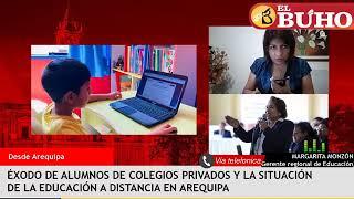 Los traslados, la educación virtual y las protestas de padres de familia de colegios privados