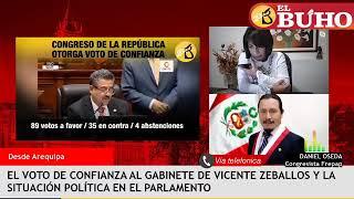 ¿Por qué votó el Frepap a favor de la confianza para Vicente Zeballos?
