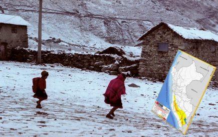 Senamhi advierte descenso de temperatura hasta -14°C en 11 regiones