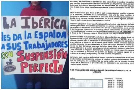 Envían a 69 trabajadores de La Ibérica a suspensión perfecta de labores