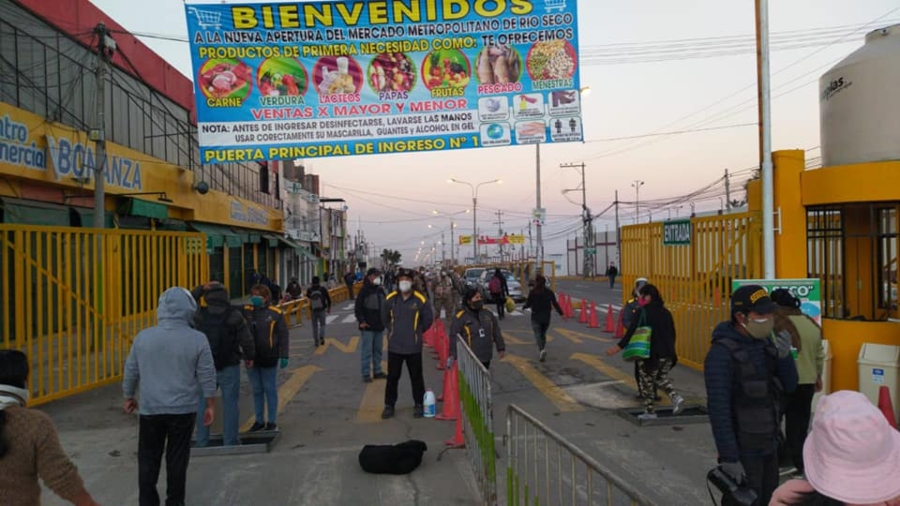 Arequipa: mercado Río Seco reabre sus puertas al público bajo medidas sanitarias