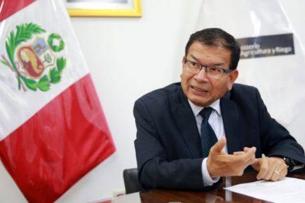 Ministro de Agricultura Jorge Montenegro da positivo a coronavirus