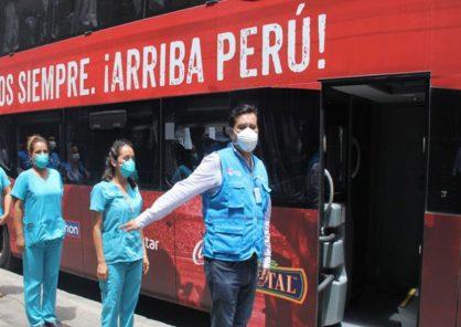 Arequipa: aquí 5 rutas habilitadas para transporte de personal de Salud