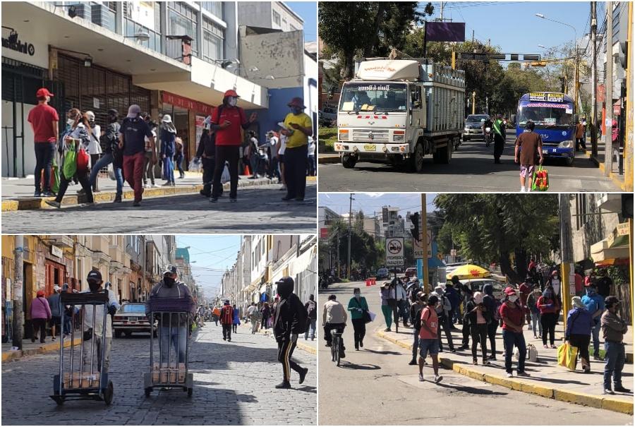 Arequipa: población regresó a las calles dejando de lado la cuarentena