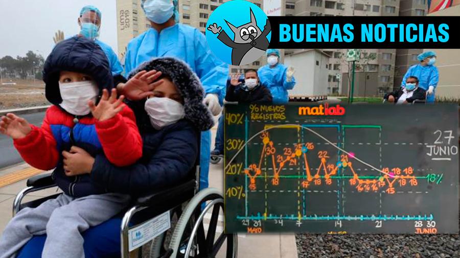 buenas noticias, contagios, curva, meseta Perú