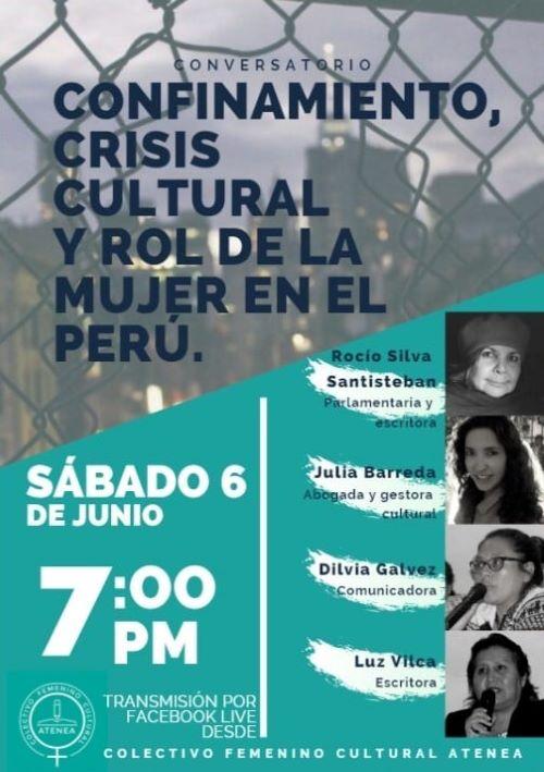 Arequipa Conversatorio: Confinamiento, crisis cultural y rol de la mujer en el Perú