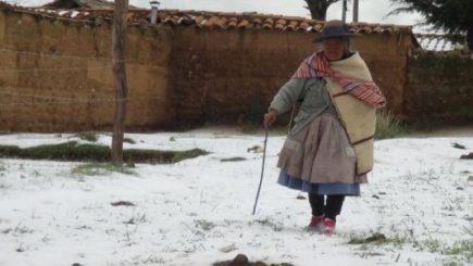Bajas temperaturas ponen en  riesgo alto a 11 regiones incluyendo Arequipa