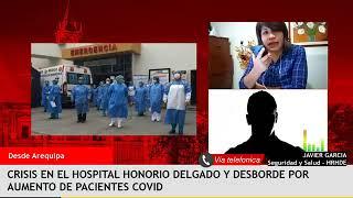 Crisis en el hospital Honorio Delgado y desborde de pacientes Covid