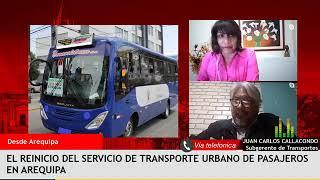 ¿Cómo fue la reanudación del servicio de Transporte Urbano en Arequipa? – Entrevistas