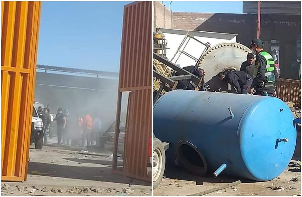 Arequipa: explosión de taller en Parque Industrial deja tres muertos y tres heridos