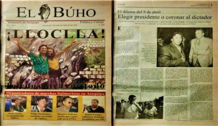 #Hace20Años Lloclla Toledo entra con todo: elegir presidente o coronar dictador