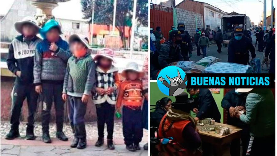 Buenas noticias, niños huerfanos reciben apoyo de población de Azángaro