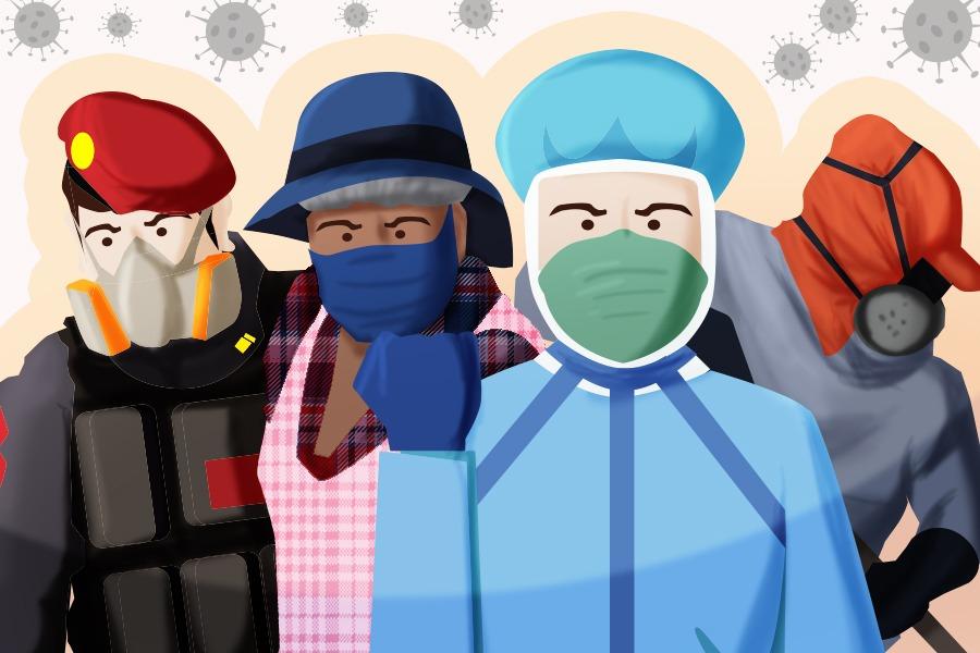 En primera línea: trabajadores que enfrentan la pandemia día a día