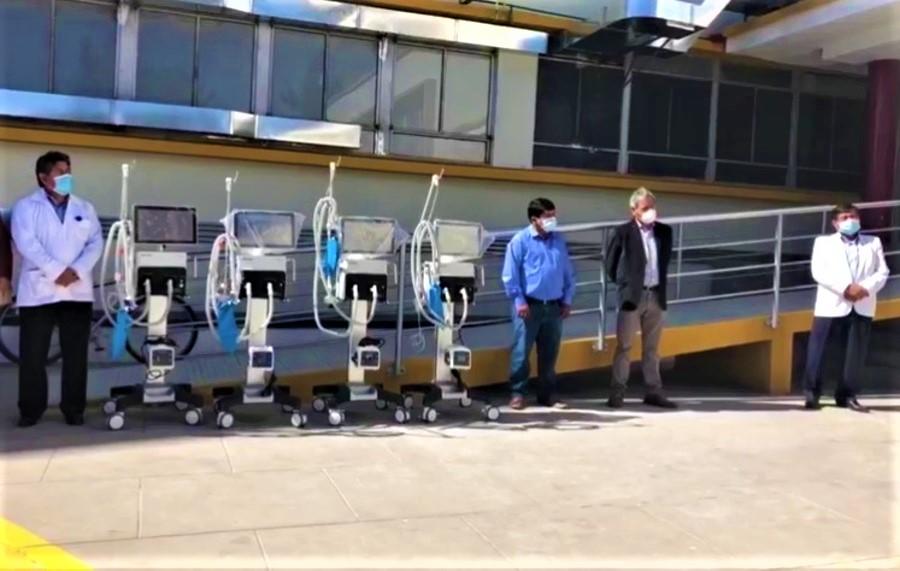 Arequipa: entregan 4 ventiladores para pacientes COVID de Honorio Delgado
