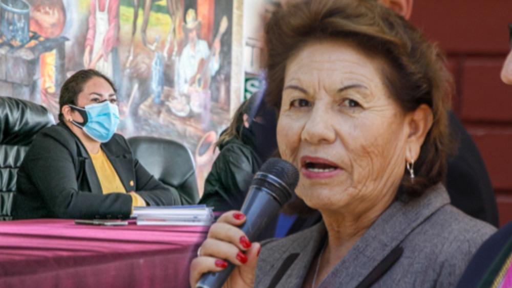 Shirley Alcócer y Lilia Pauca, arequipa.