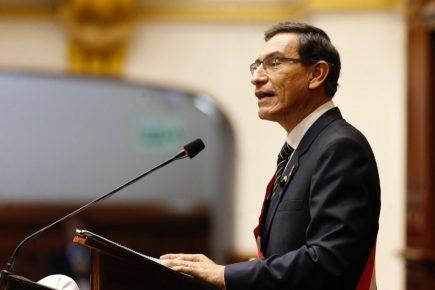 Presidente Martín Vizcarra convoca a un Pacto Perú en su último mensaje a la Nación