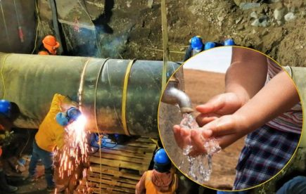 Arequipa: se inició producción de agua potable tras reparación de tubería matriz
