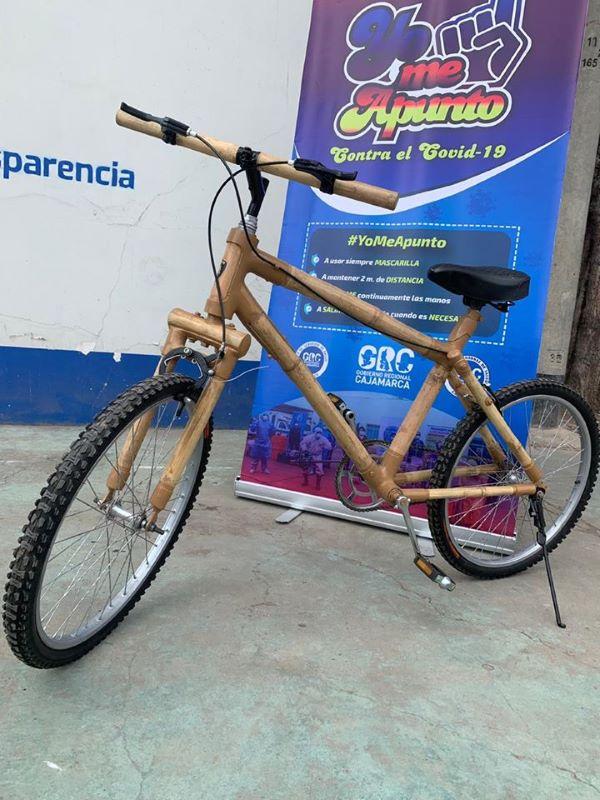 Buenas noticias Cajamarca bicicleta de bambú