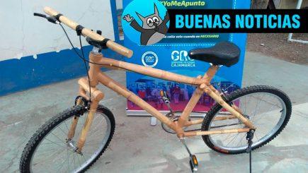 Cajamarca innova en el transporte y presenta su bicicleta de bambú (VIDEO)