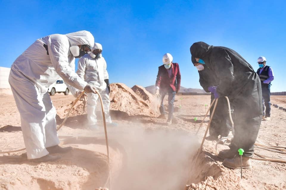 Arequipa: PJ paraliza obra de cementerio COVID y da ultimátum al GRA