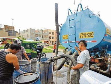 Arequipa: zonas de cisternas en 7 distritos que continúan sin agua este jueves