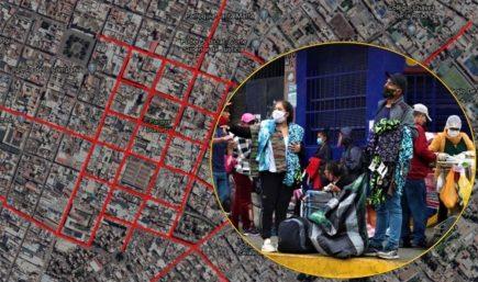 Arequipa: mapa de 21 calles  en Centro Histórico con alto riesgo de contagio