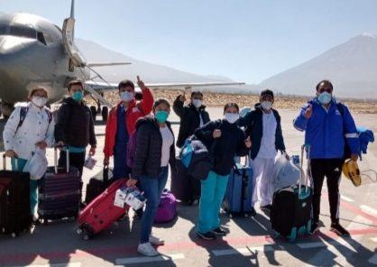 Arequipa: llega equipo médico de 80 profesionales para reforzar atención