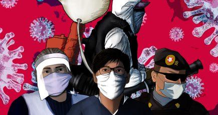 Los combatientes de la pandemia