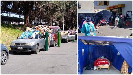 La pandemia azota Arequipa: enfermos fallecen por frío y por coronavirus