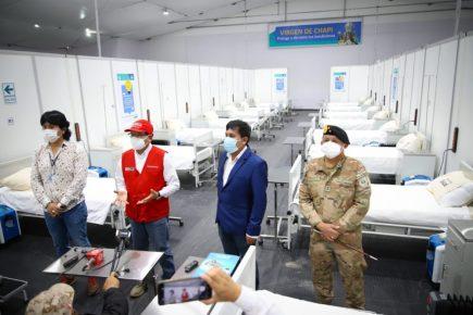 Habilitan camas en hospital temporal para descongestionar Honorio Delgado