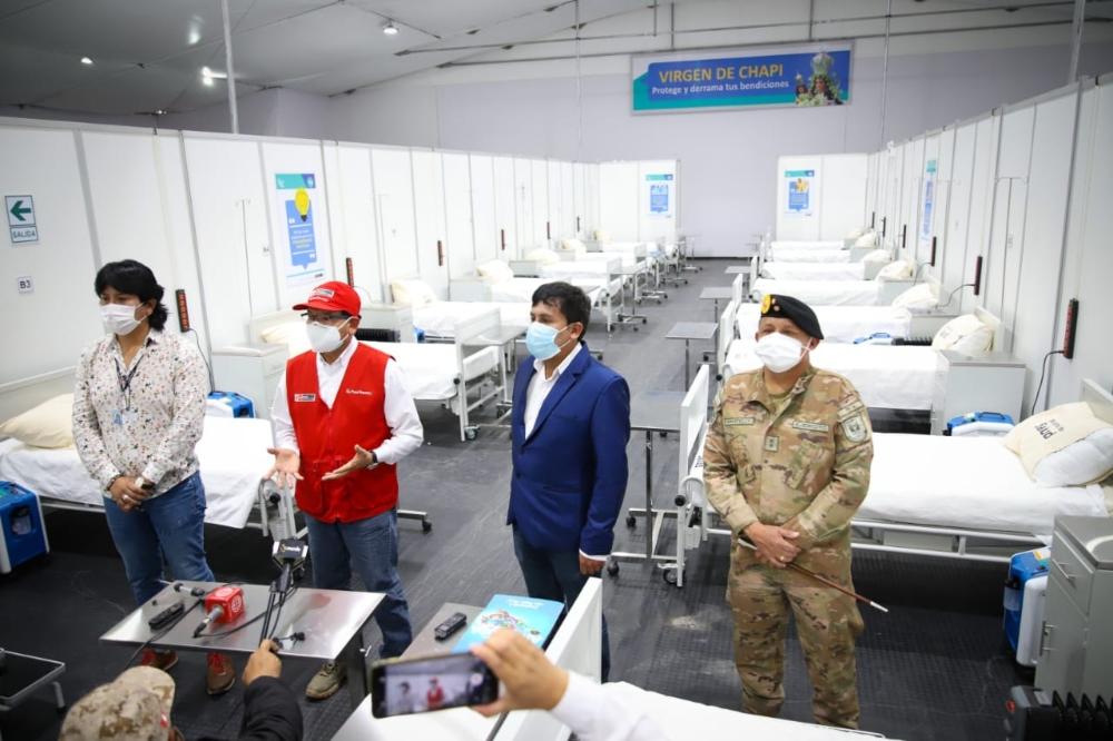 Arequipa: habilitan camas en hospital temporal para descongestionar Honorio Delgado